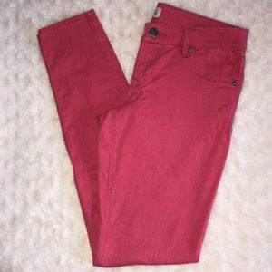 Express hot pink skinny pants